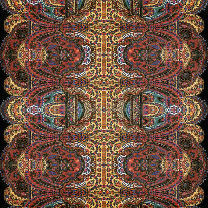Fond antique d'Indien de Paisley de cru photo stock