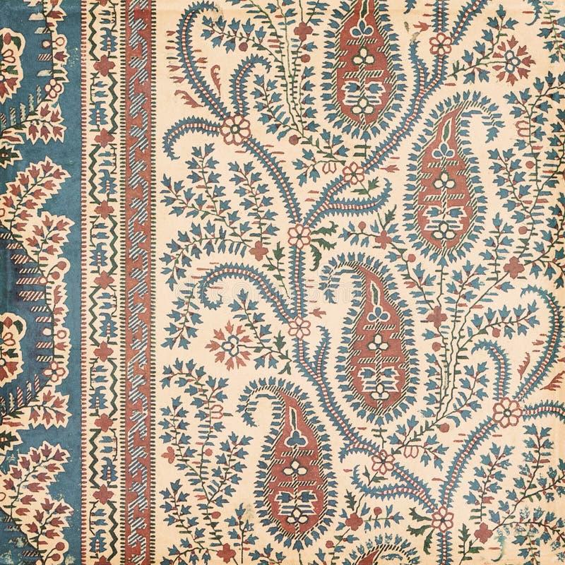 Fond antique d'Indien de Paisley de cru photographie stock libre de droits