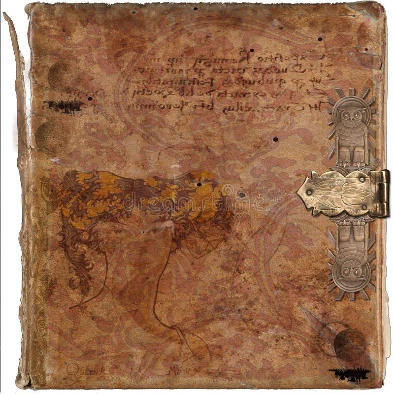 Fond antique de grunge de livre de cru de sagesse photos stock