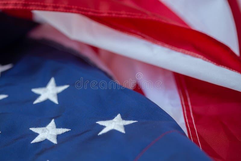 Fond antique de mod?le d'ondulation de drapeau de l'Am?rique dans le concept blanc bleu rouge de couleur pour les Etats-Unis le J photographie stock