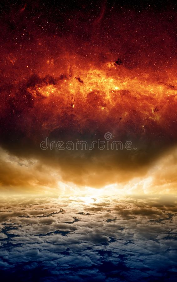 Fond apocalyptique excessif images stock
