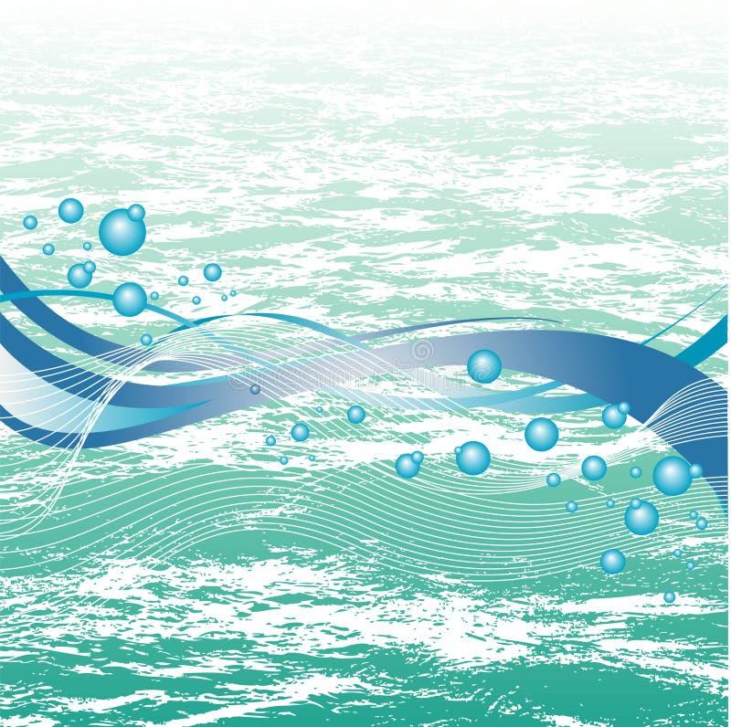 Fond aquatique illustration de vecteur
