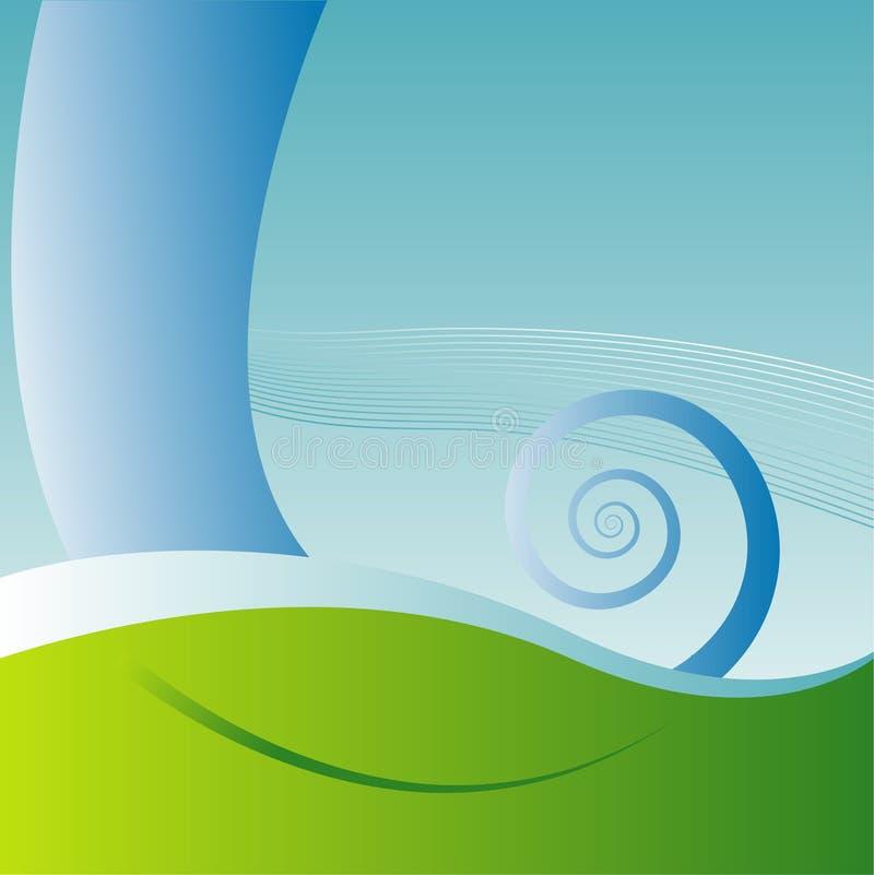 Fond aquatique abstrait illustration de vecteur