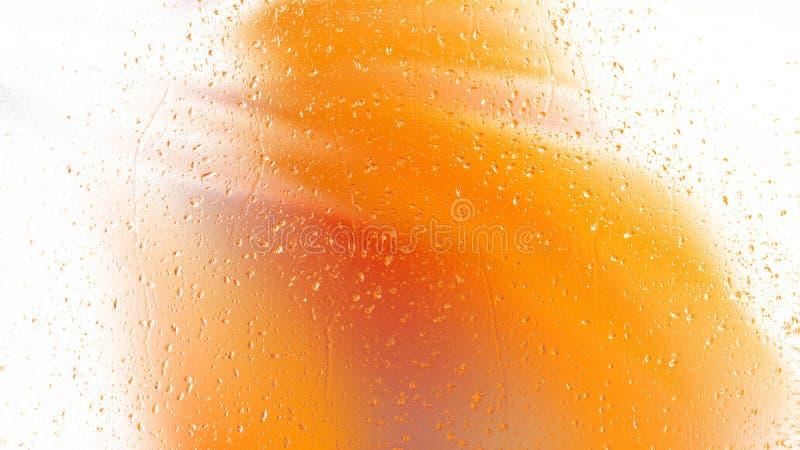 Fond aqueux orange et blanc illustration stock