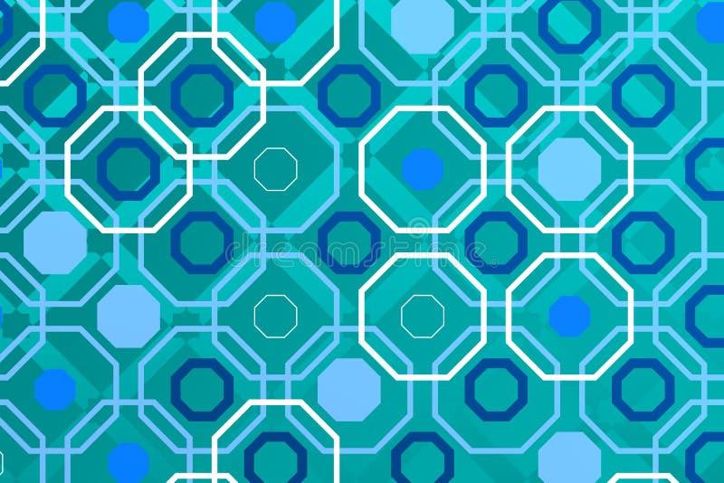 Fond arabe de technologie avec l'otagon blanc illustration stock
