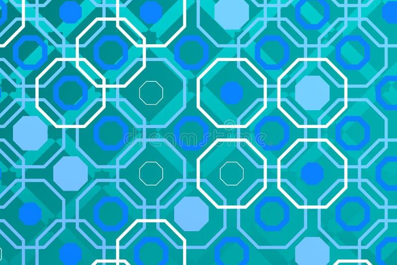 Fond arabe de technologie avec l'otagon illustration de vecteur