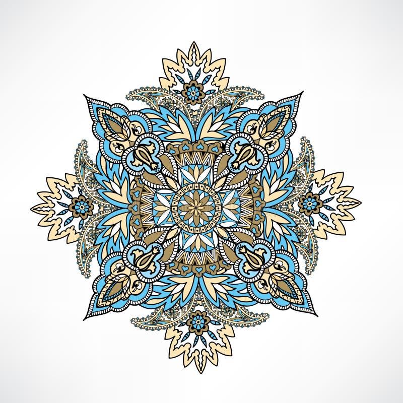 Fond arabe Orie d'ornement de modèle géométrique floral d'Abstact illustration stock