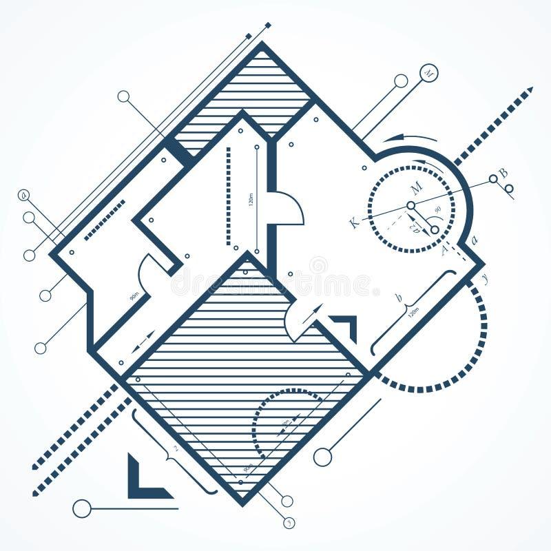 Fond architectural illustration stock