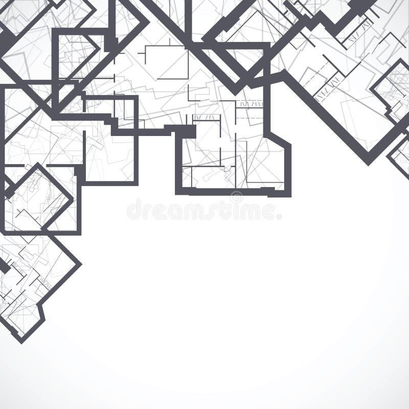 Fond architectural illustration de vecteur
