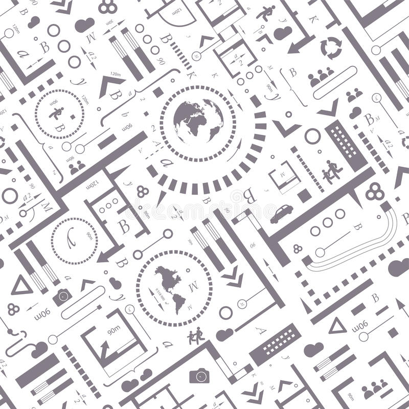 Fond architectural abstrait illustration de vecteur