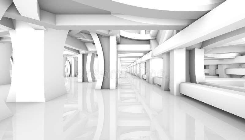 Fond architectural blanc rendu 3d paramétrique illustration libre de droits