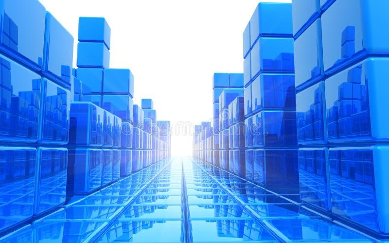Fond architectural bleu abstrait illustration de vecteur