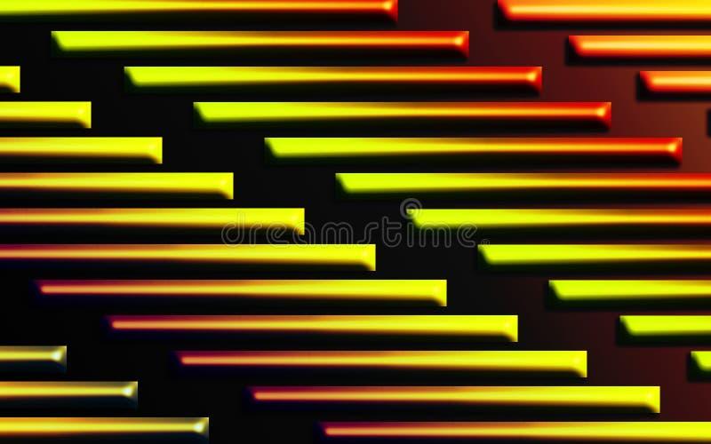 Fond ardent coloré de barres - les formes dimensionnelles abstraites wallpaper illustration libre de droits