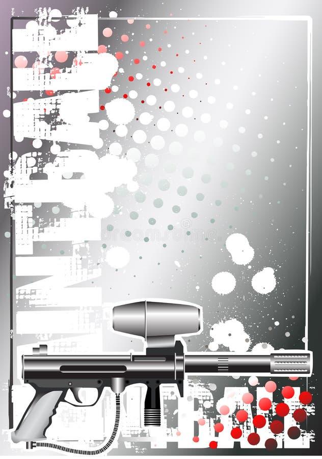 Fond argenté 1 d'affiche de Paintball illustration de vecteur