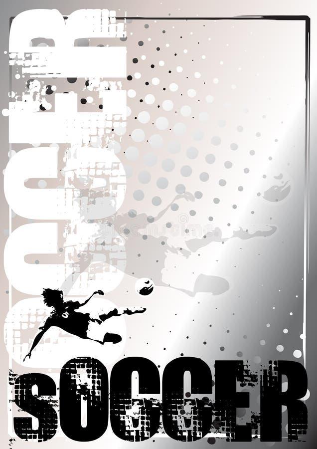 Fond argenté 5 d'affiche du football illustration de vecteur