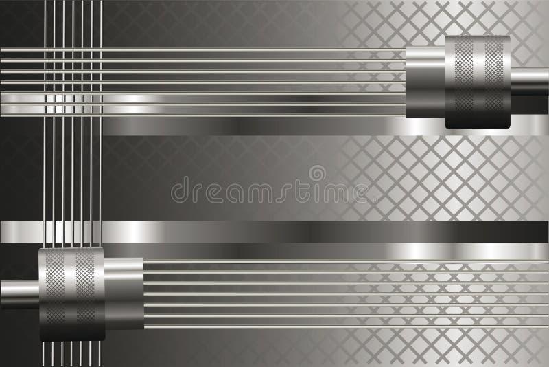 Fond argenté avec les détails mécaniques Lustre métallique illustration libre de droits