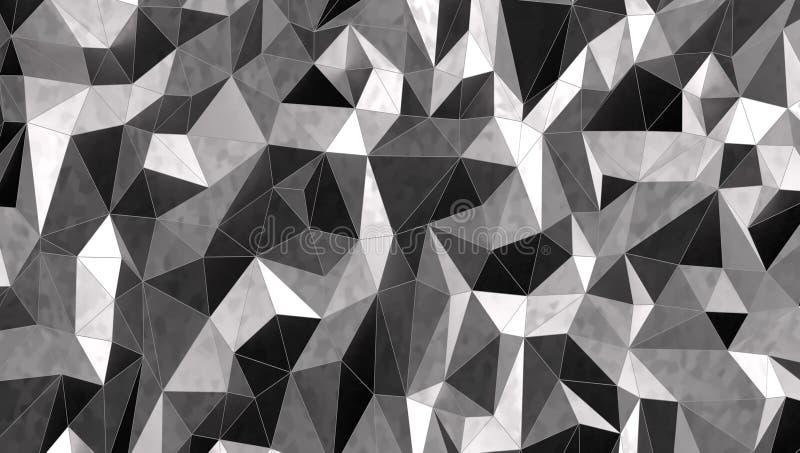 Fond argenté de la mosaïque 3d, rendu 3d illustration stock