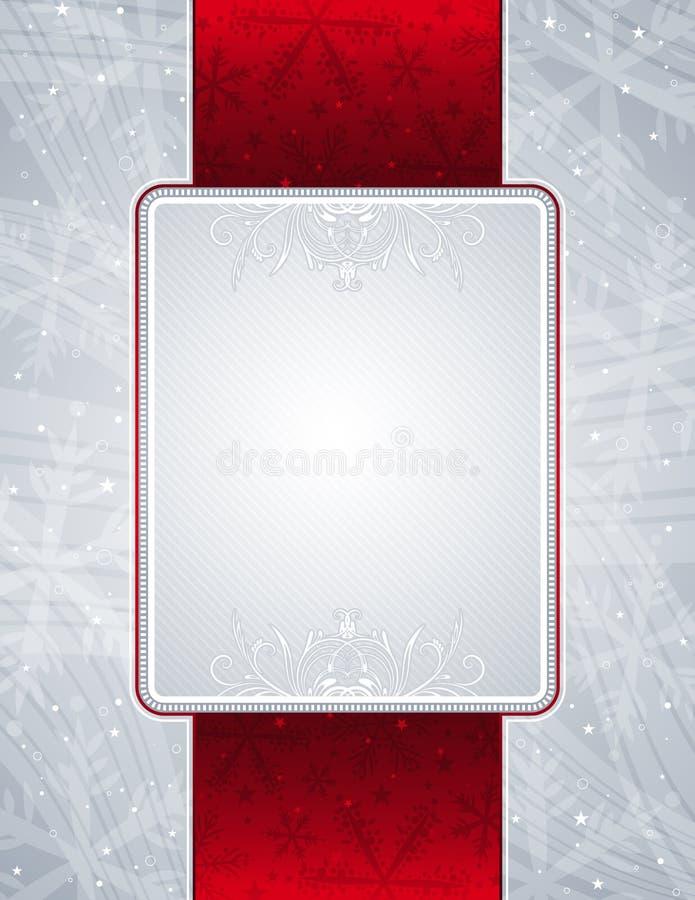 Fond argenté de Noël,   illustration stock