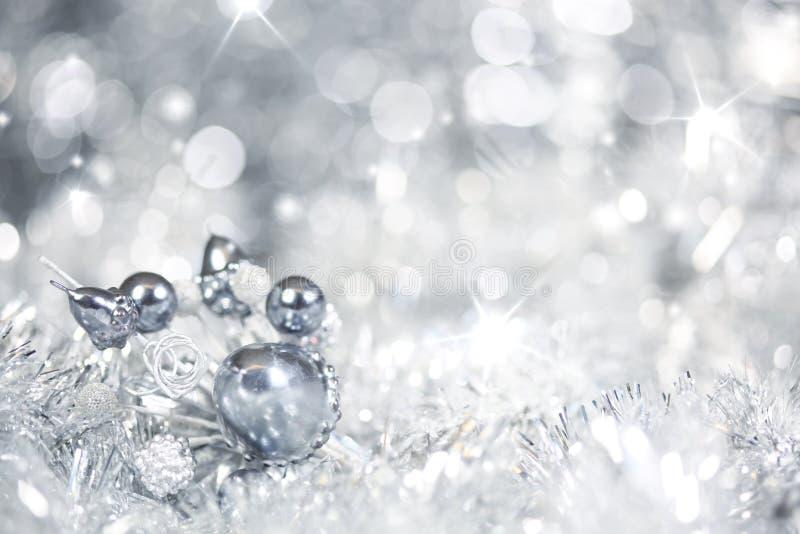 Fond argenté de Noël image stock