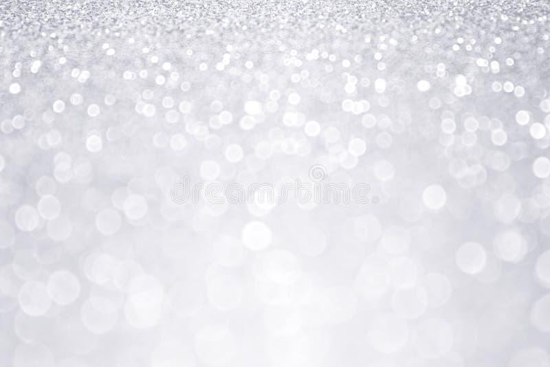 Fond argenté de Noël d'hiver de scintillement photographie stock
