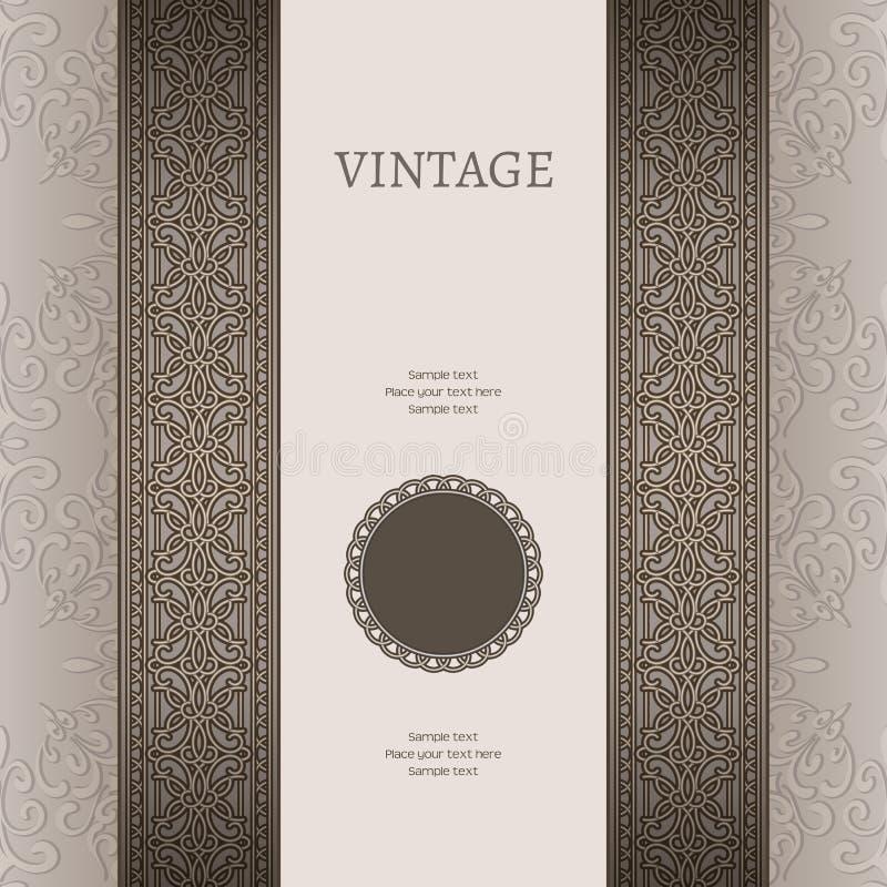 Fond argenté de vintage illustration libre de droits