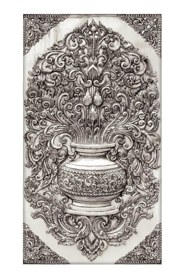 Fond argenté gravé par antiquité image stock