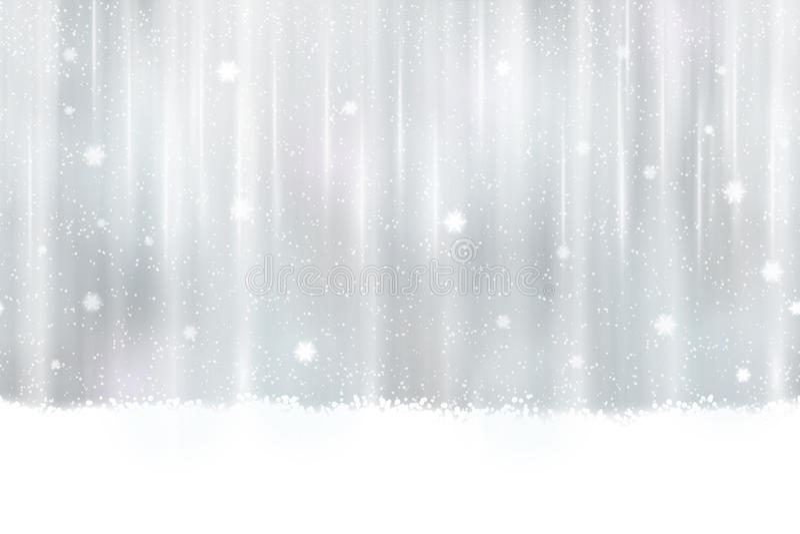 Fond argenté sans couture avec des flocons de neige illustration libre de droits