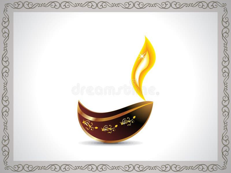 Fond artistique abstrait de diwali avec le cadre illustration libre de droits