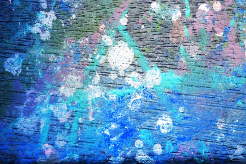 Fond artistique abstrait de painet dans le bleu photographie stock libre de droits