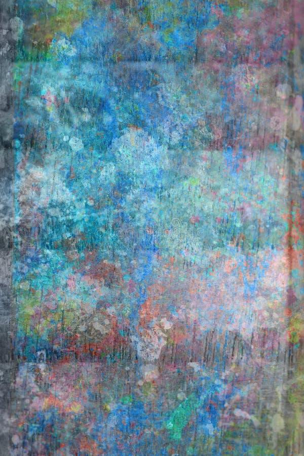 Fond artistique abstrait de painet dans le bleu image stock