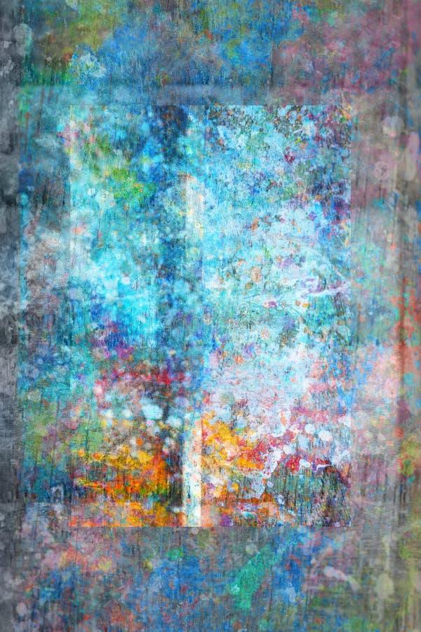 Fond artistique abstrait de painet dans le bleu photographie stock
