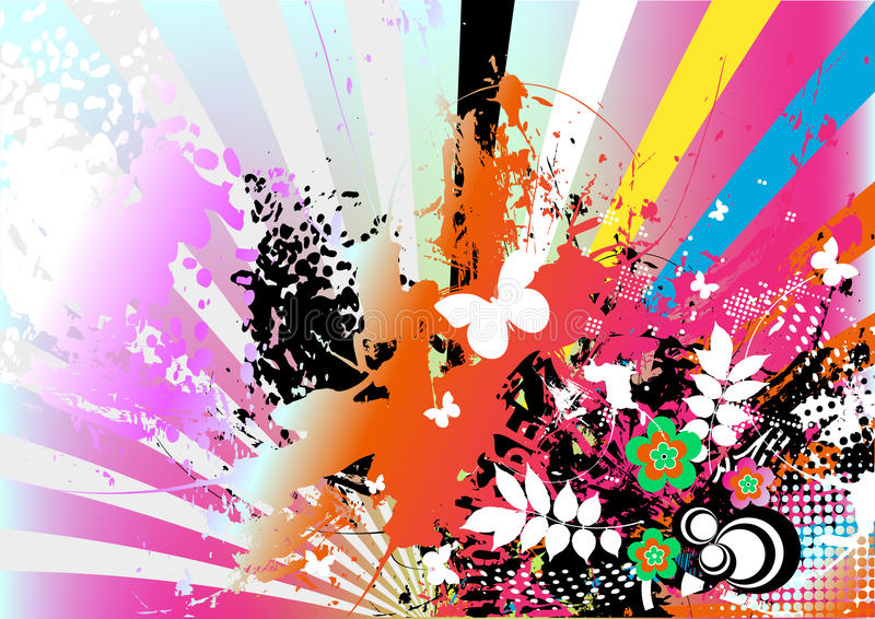 Fond artistique coloré illustration libre de droits
