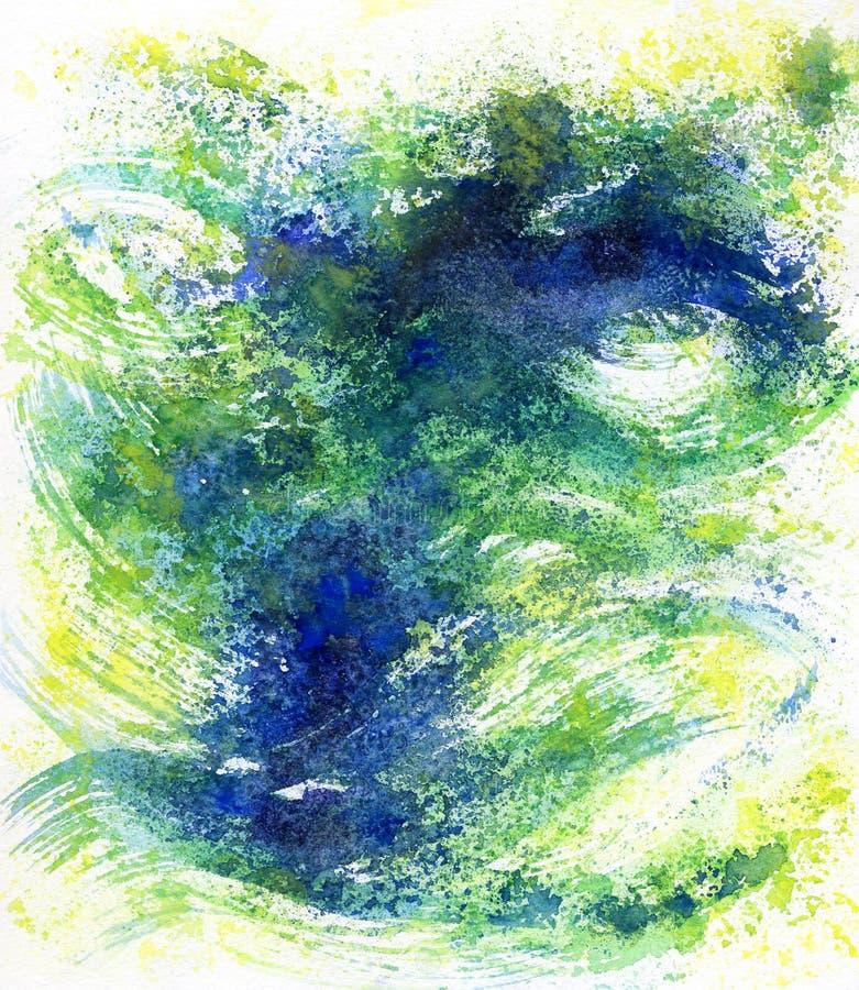 Fond artistique d'aquarelle colorée illustration de vecteur