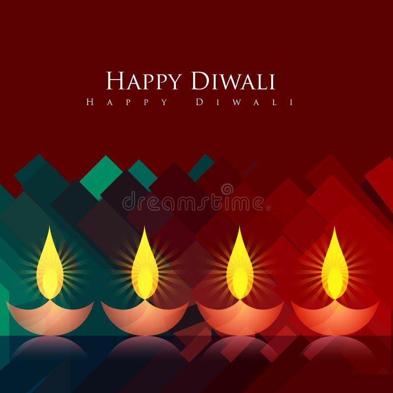 Fond artistique de diwali illustration libre de droits
