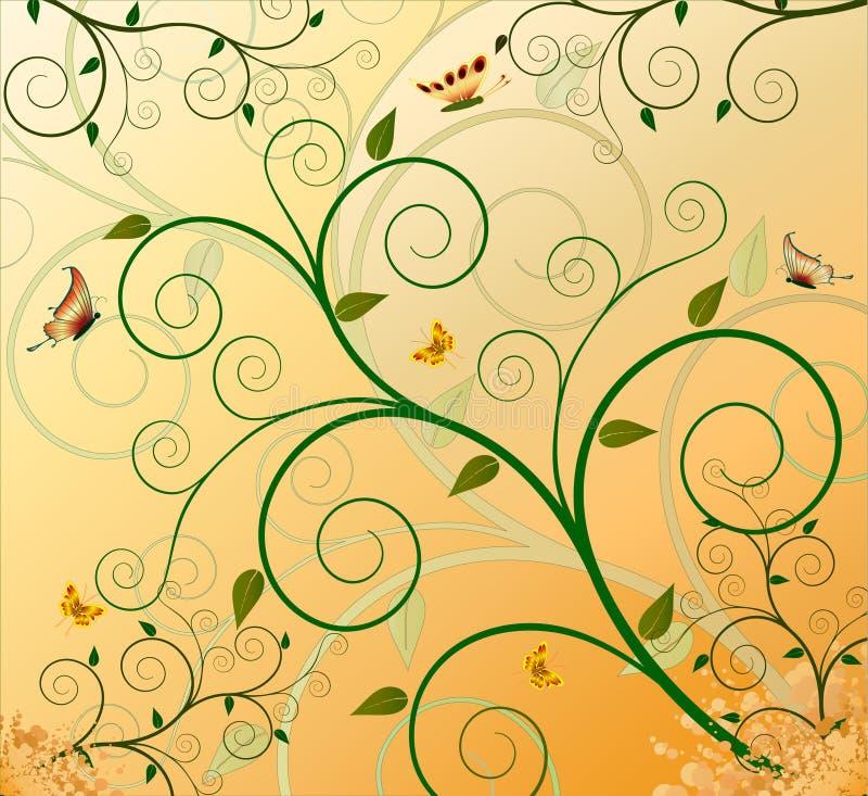 Fond artistique floral de conception illustration stock