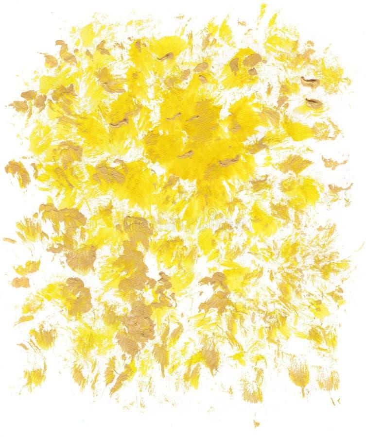 Fond artistique jaune de résumé formant par des taches images stock