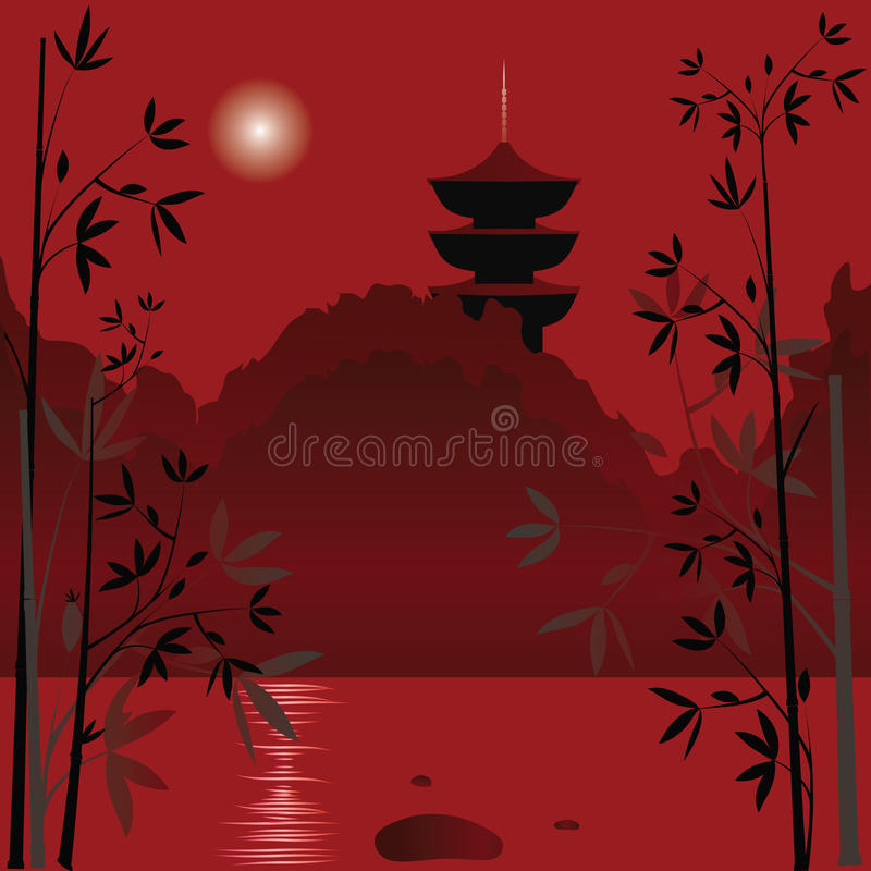 Fond asiatique illustration libre de droits