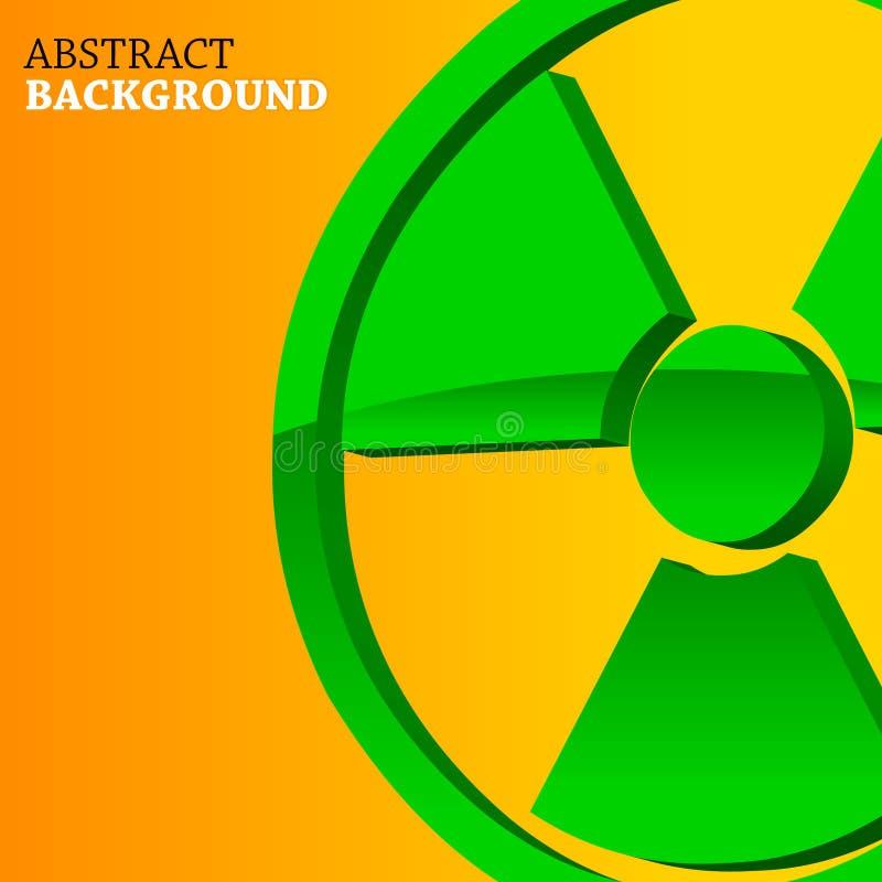 Fond atomique illustration de vecteur