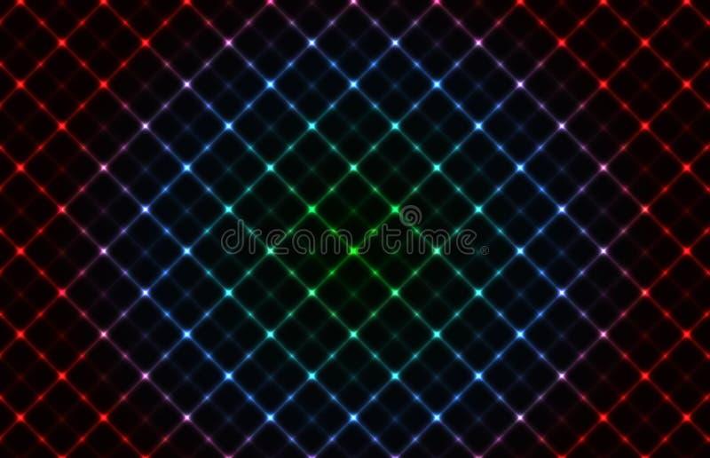 Fond au néon abstrait de réseau illustration de vecteur