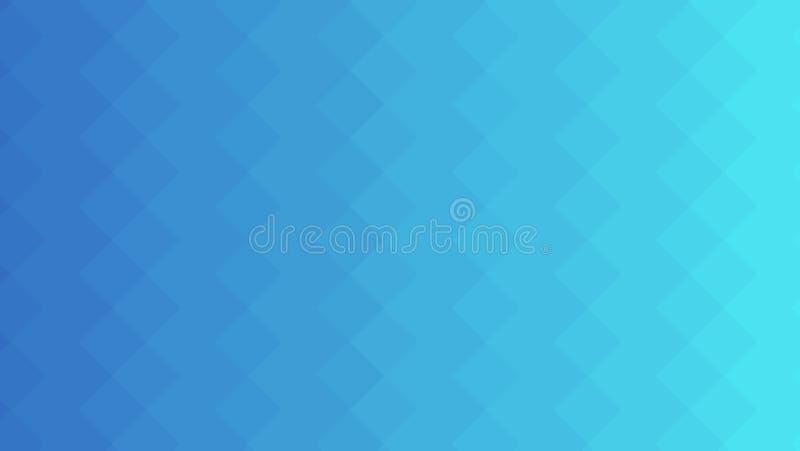 Fond au néon bleu de résumé Modèle géométrique rectangulaire mosaïque Illustration abstraite de vecteur, horizontale illustration stock