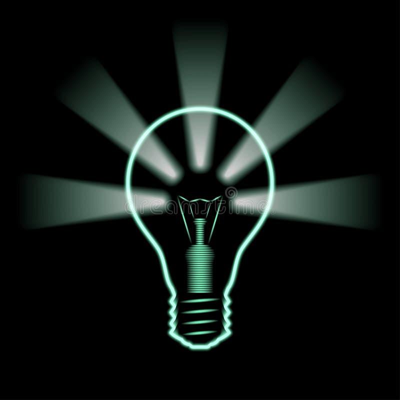 Fond au néon d'idée illustration stock