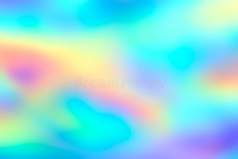 Fond au néon olographe d'aluminium de tache floue photographie stock libre de droits