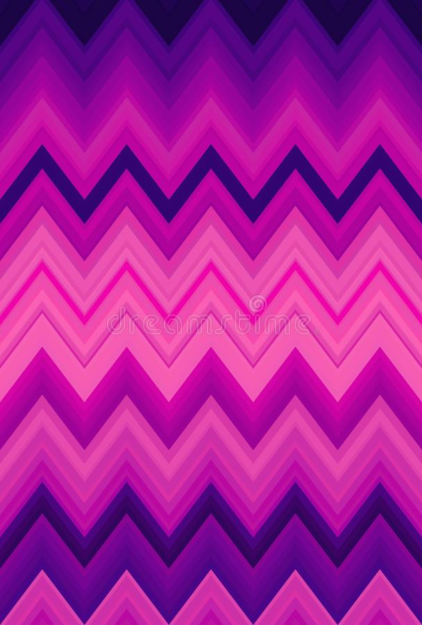 Fond au n?on de zigzag de chevron ultra flambage brillant illustration stock