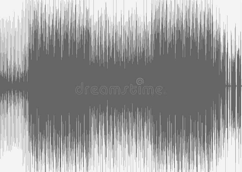 Fond audio abstrait effet sonore stock