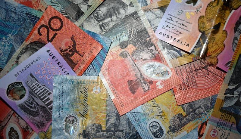 Fond australien de devise images stock