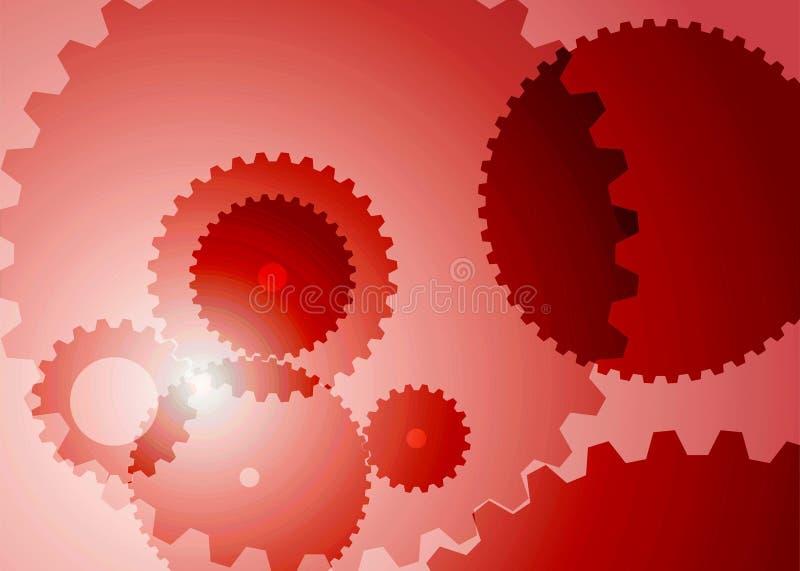 Fond avec de grandes vitesses dans la couleur rouge illustration de vecteur