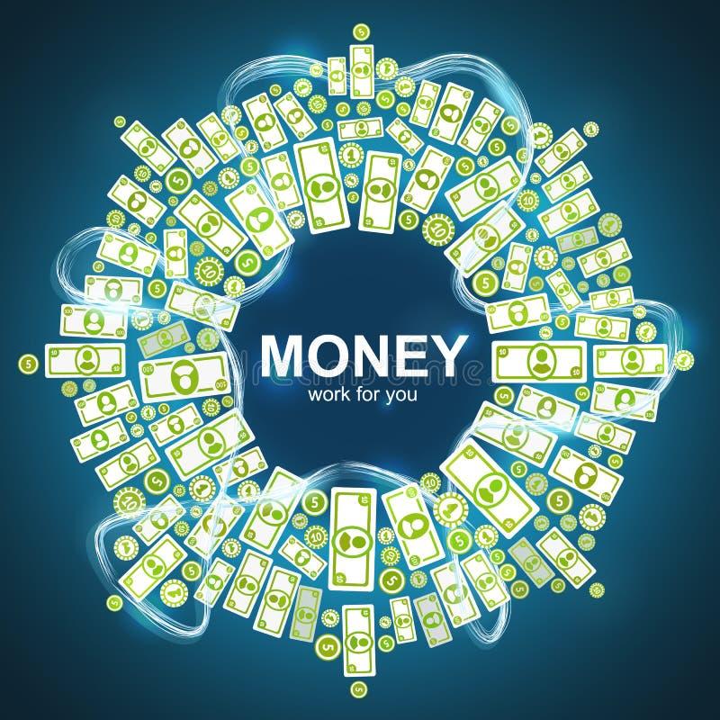 Fond avec de l'argent illustration de vecteur