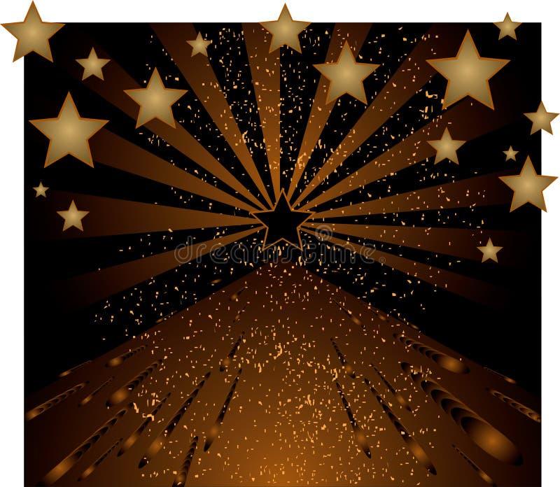 Fond avec des étoiles illustration libre de droits
