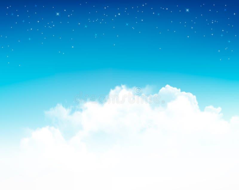 Fond avec des étoiles dans le ciel nocturne illustration stock