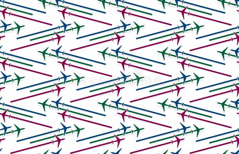 Fond avec des avions illustration de vecteur
